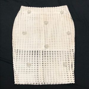 Dresses & Skirts - Pencil skirt with pearl design, with mini under